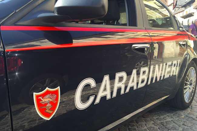 carabinieri scritta portiera