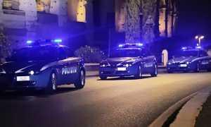 polizia auto notte